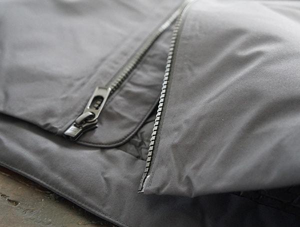 Bottom Chest Center Zipper Black Diamond Mission Down Ski Parka For Men With Wind Flap