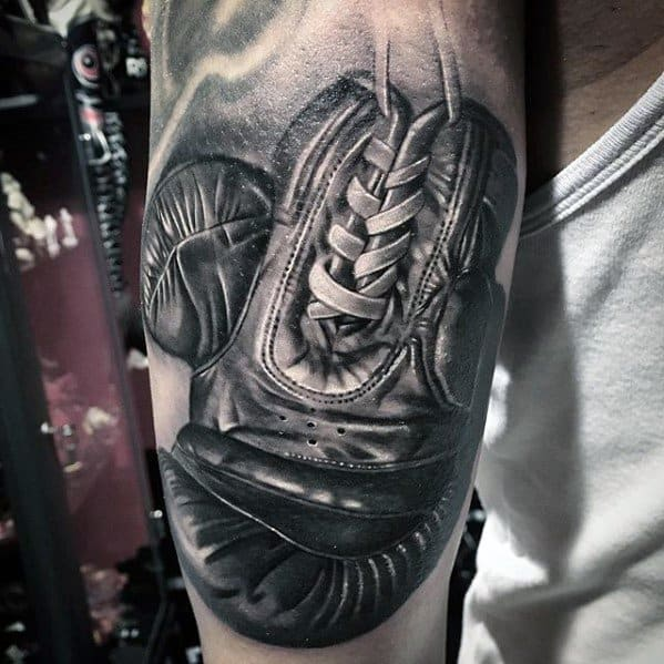 Boxing Glove 3d Realistic Sports Mens Tattoo Ideas