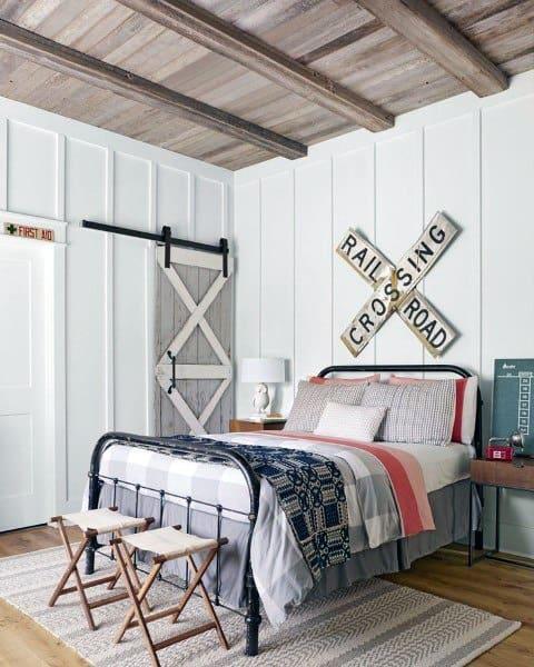 wall panelling farmhouse bedroom ideas