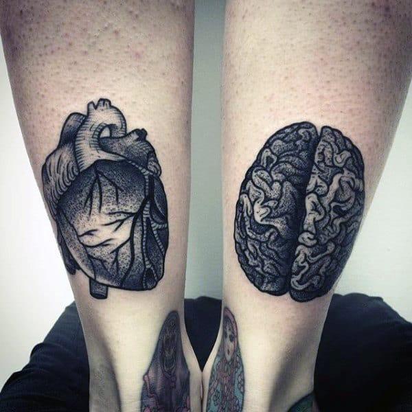 Brain Tattoo Male Calves