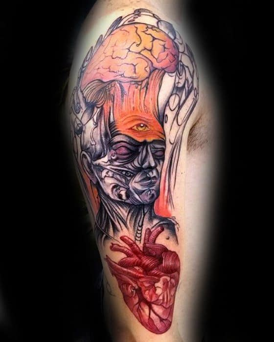 50 Consciousness Tattoo Designs For Men- Awareness Ink Ideas