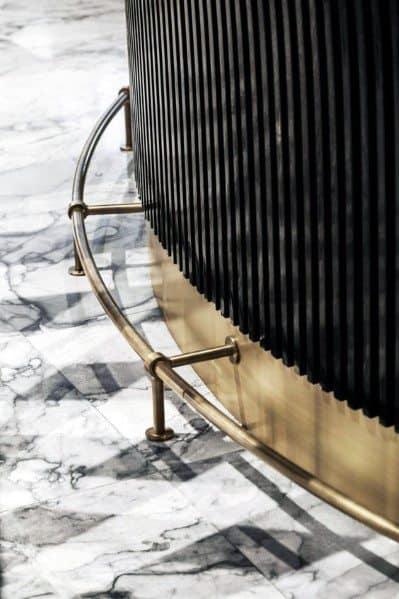 Brass Bar Foot Rail Cool Interior Ideas