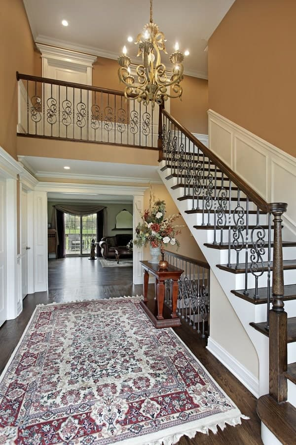 Brass Chandelier Foyer Lighting Interior Ideas
