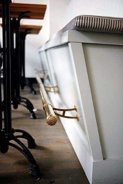 Brass Interior Designs Bar Foot Rail