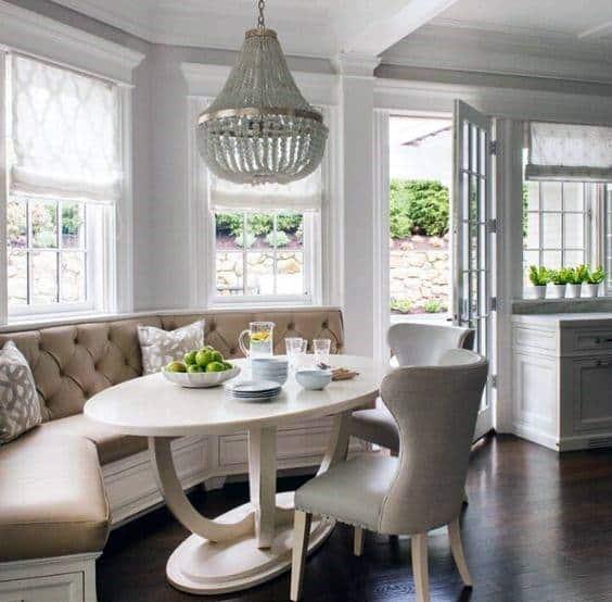 50 Cool Bay Window Decorating Ideas: Top 50 Best Breakfast Nook Ideas