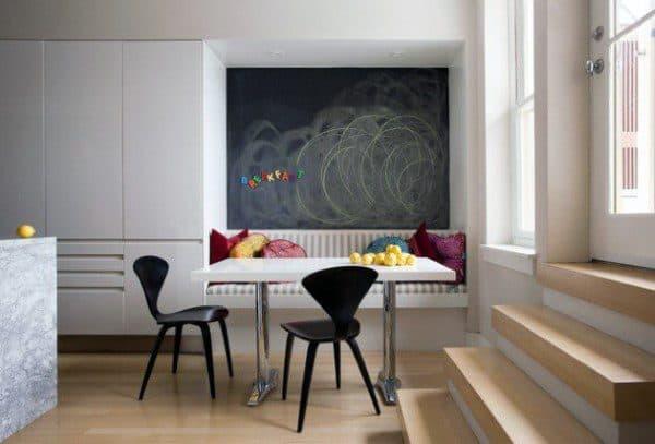 Breakfast Nook Ideas With Chalkboard Wall