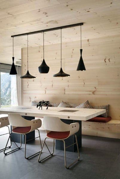 Breakfast Nook Stunning Interior Wood Wall Designs
