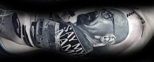 50 Breaking Bad Tattoo Designs For Men – Walter White Ink Ideas