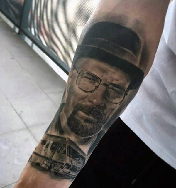 Breaking Bad Van From Tv Show Mens Inner Forearm Tattoos