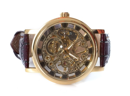 Breguet Tradition Black Skeleton Dial 18kt White Gold Black Leather Cool Watches For Men