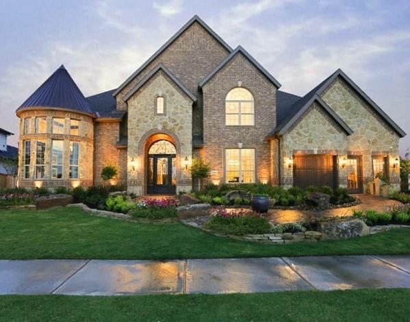 Brick And Stone Exterior Design Idea Inspiration