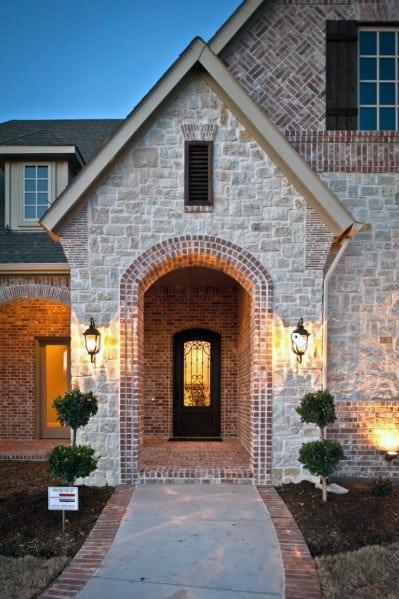 Brick And Stone Exterior Home Designs