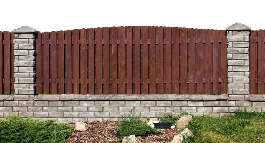 Brick And Wood Fence Ideas (1)