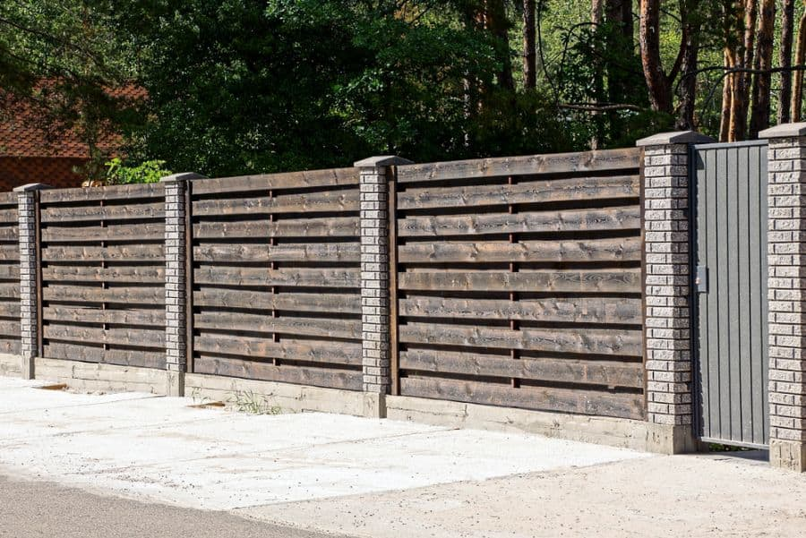 Brick And Wood Fence Ideas (4)