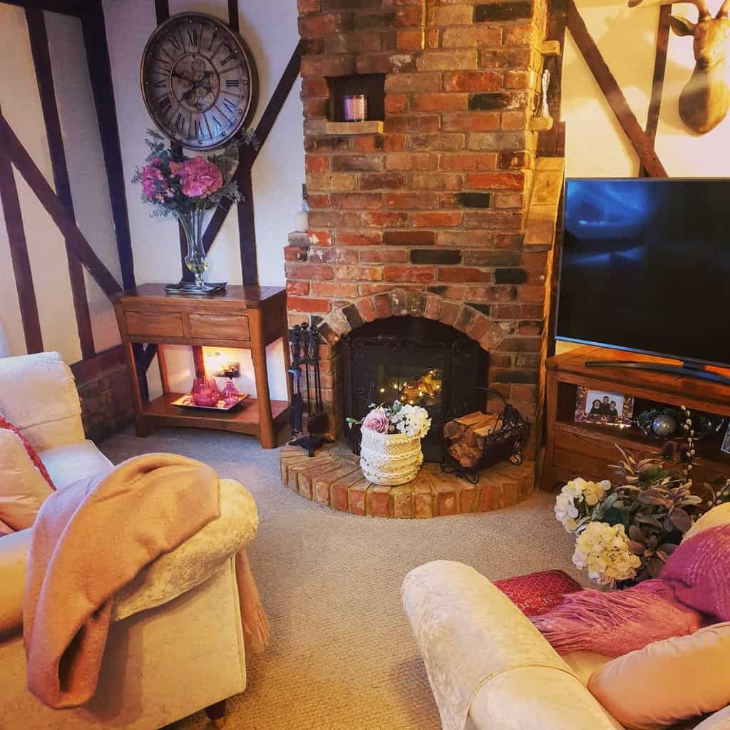 brick fireplace wall ideas caroline_at_ruggles_cottage