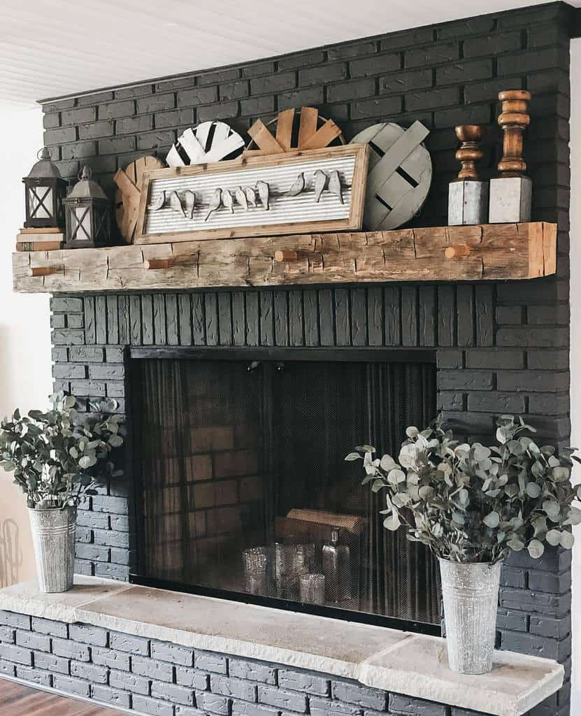 brick fireplace wall ideas decor_and_danes