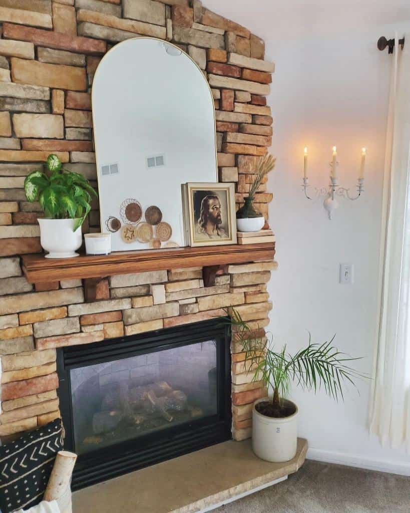 brick fireplace wall ideas decormamaa