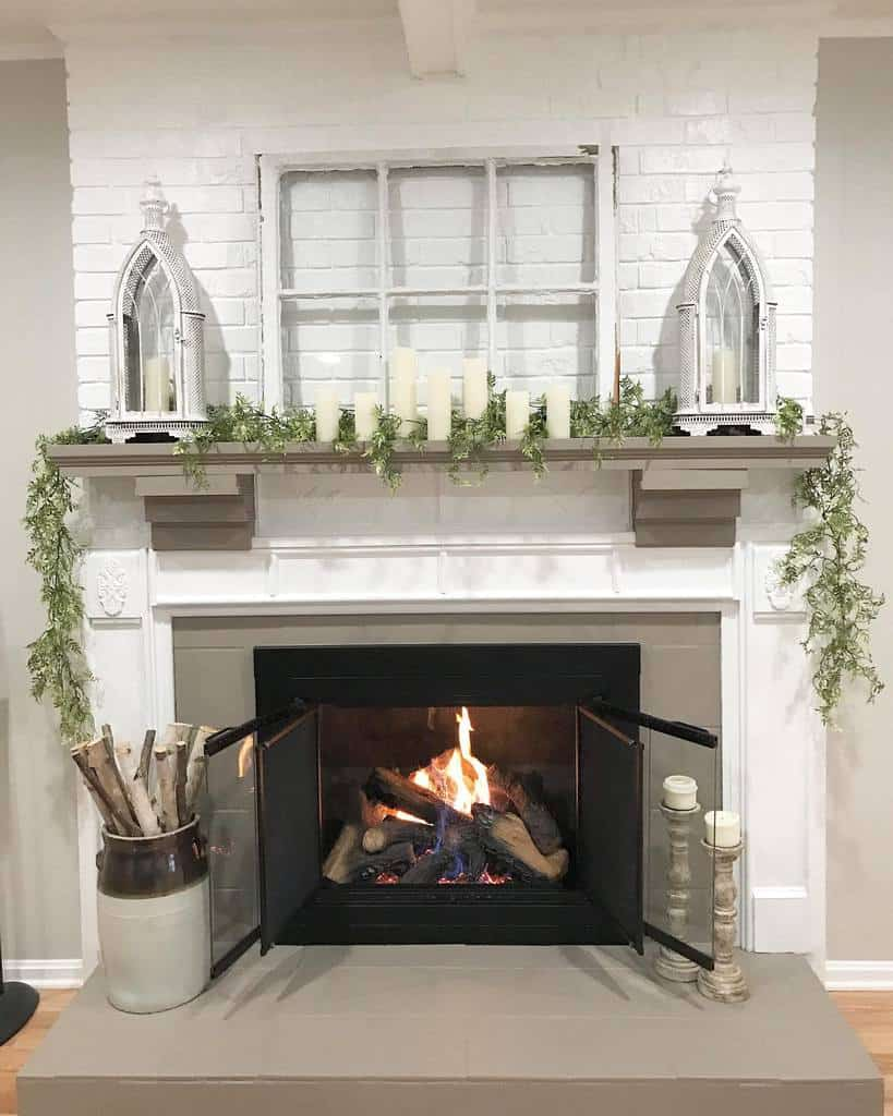 brick fireplace wall ideas hidden_country_home