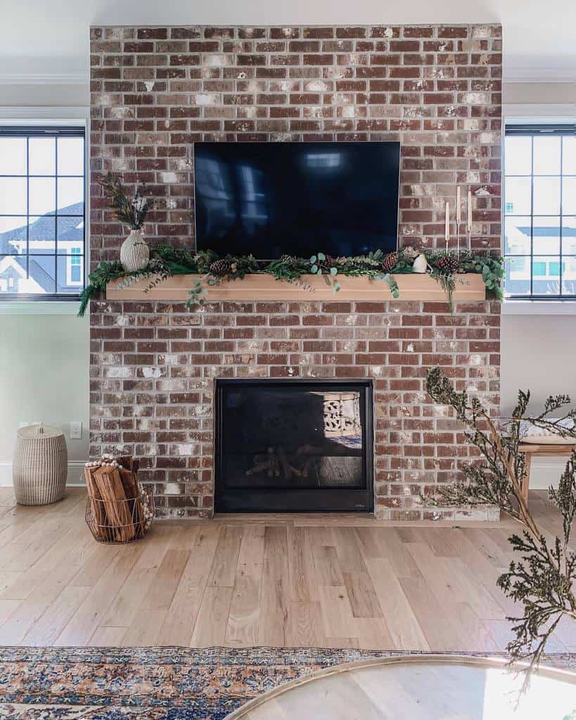 brick fireplace wall ideas spacefordreaming