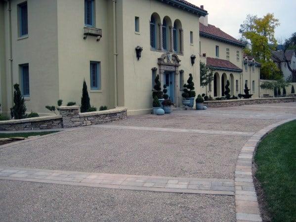Brick Lined Gravel Driveway Edging Ideas