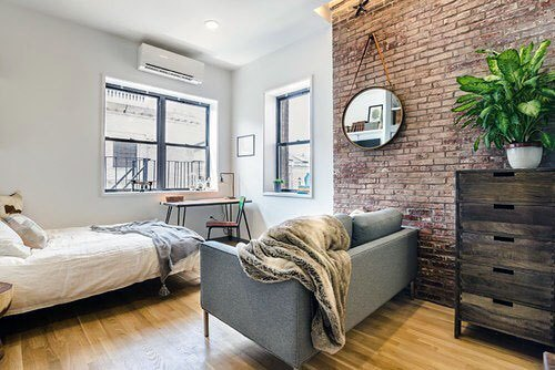 Brick Wall Interior Designs Studio Apartments