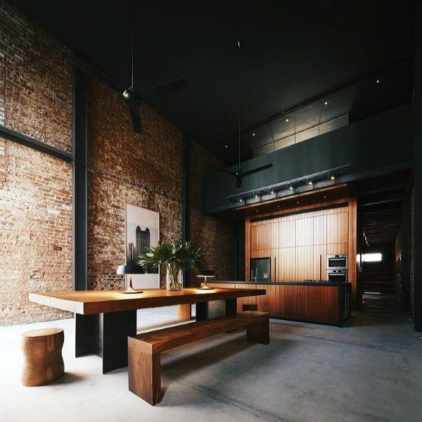 Brick Wall Rustic Loft Ideas