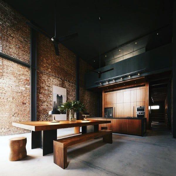 Brick Wall Rustic Loft Ideas