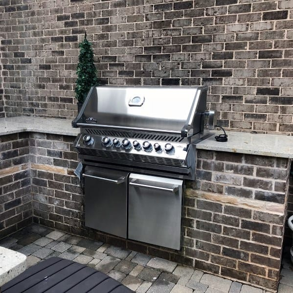 Top 50 Best Built In Grill Ideas - Outdoor Cooking Space ... on Exterior Grill Design id=44914
