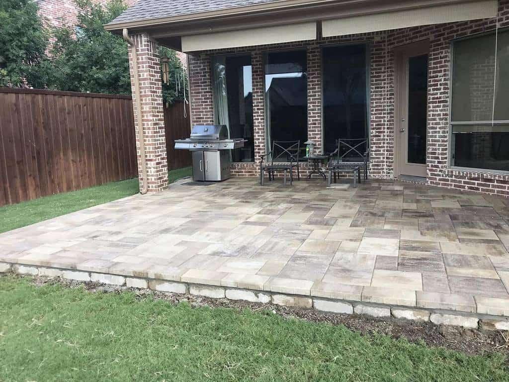 bricks covered patio ideas precisionpavers