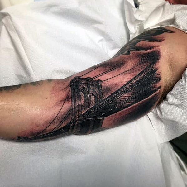 Bridge Bicep Male Tattoos