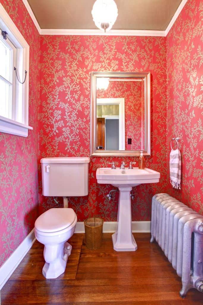 Bright Color Bathroom Wallpaper Ideas 1