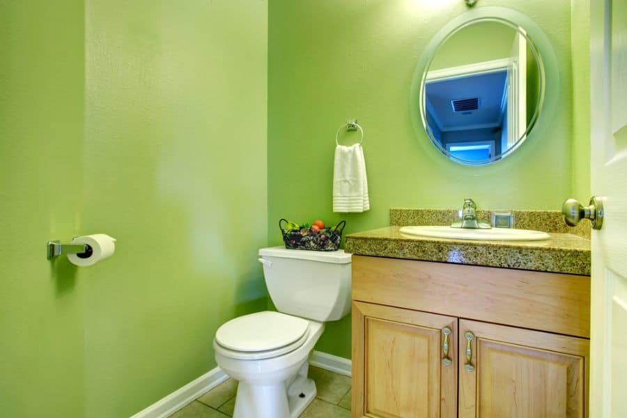 Bright Color Small Bathroom Paint Ideas 4