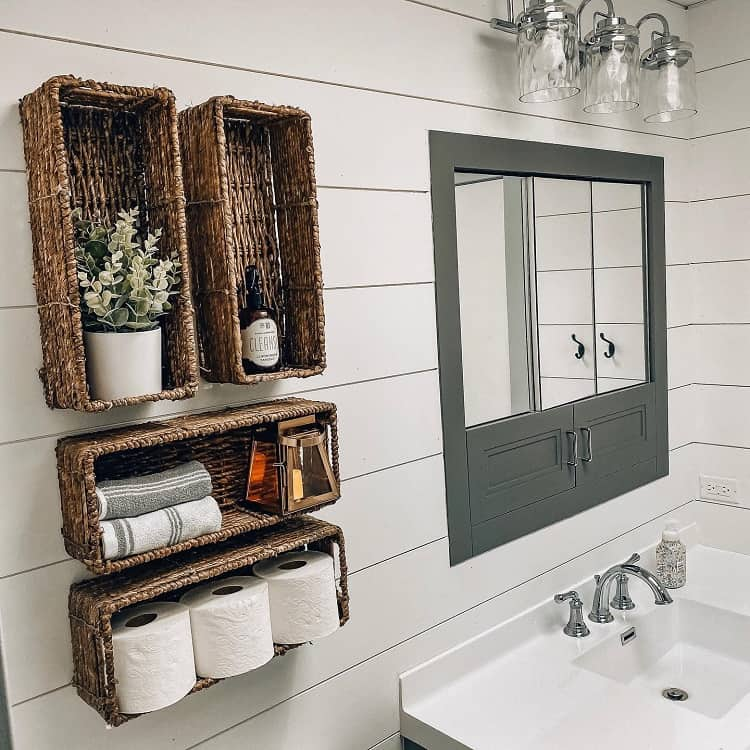 Bright Modern Diy Bathroom Shelf Homewithalia