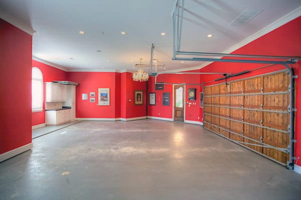 Bright Red Home Garage Paint Ideas
