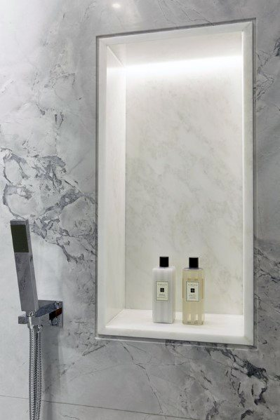 Bright White Led Shower Recessed Niche Light Ideas