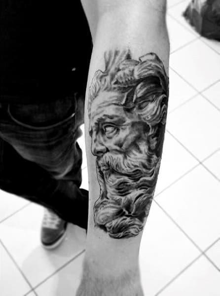 Brilliant Greek God Zeus Tattoo On Wrist For Men