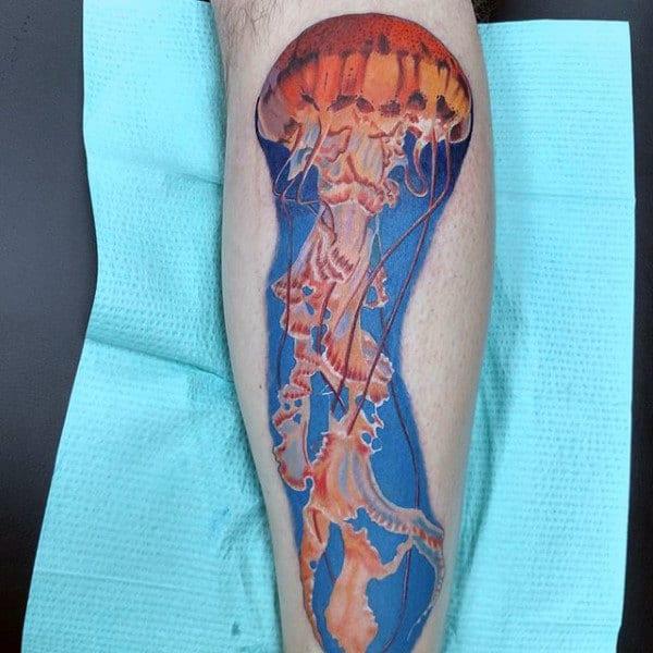 Brilliant Jellyfish Tattooo Male Forearms