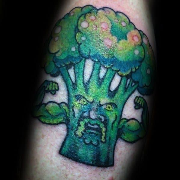 Broccoli Muscles Tattoo Designs On Men