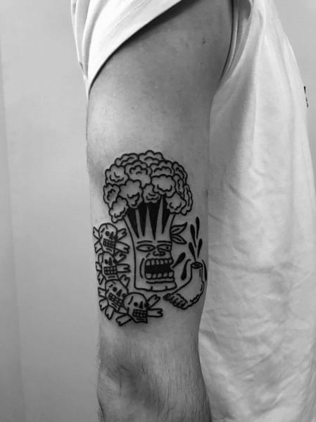 Broccoli Themed Tattoo Design Inspiration Outer Arm