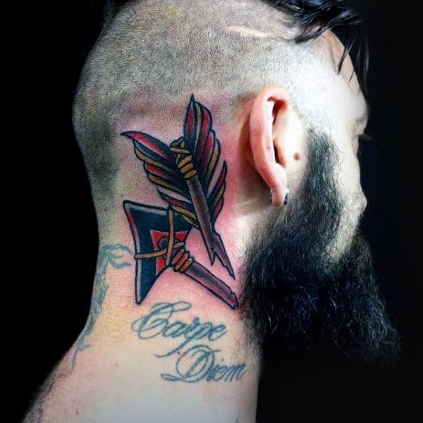 Broken Arrows Head Tattoos For Men