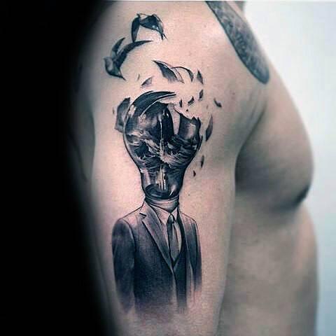 30 Broken Glass Tattoo Designs For Men Shattered Ink Ideas