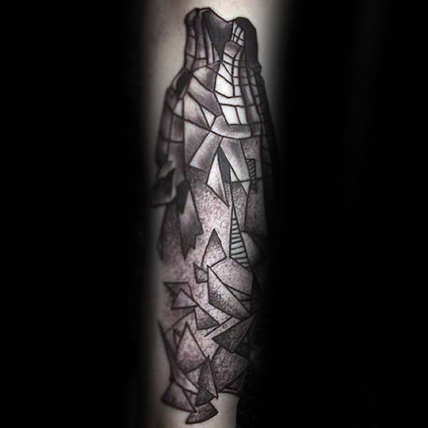 Broken Shapes Geometric Wolf Tattoos For Men