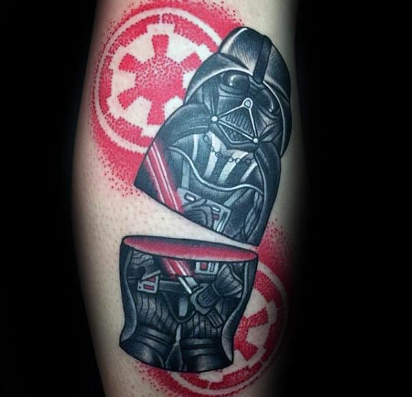 Broken Star Wars Tattoo Male Forearm
