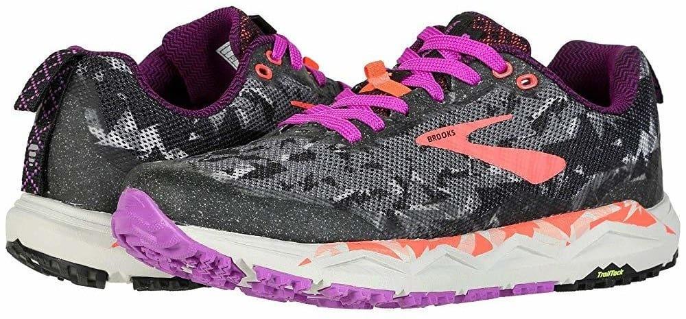 brooks caldera 3 purple trail running shoes