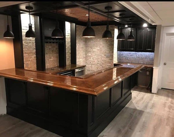 Top 60 Best Bar Top Ideas - Unique Countertop Designs