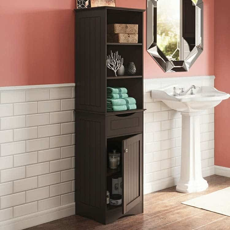 tall cabinet bathroom storage ideas