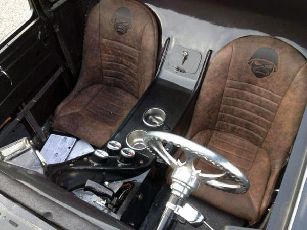 Brown Leather Seats Rat Rod Interiors