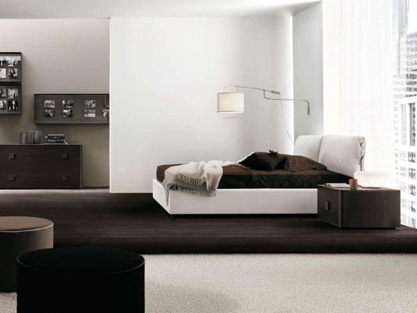 Brown Men's Bedroom Design