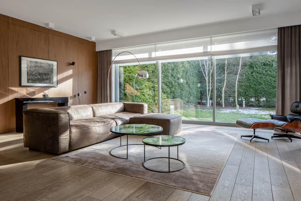 Brown Minimalist Living Room 1