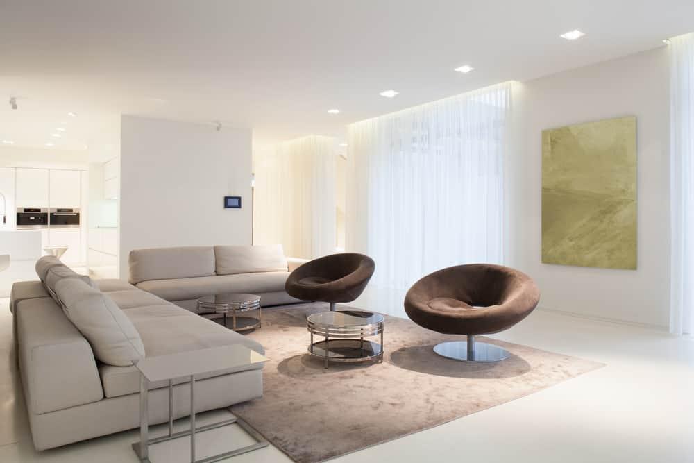 Brown Minimalist Living Room 2